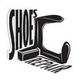 hoes shop shoes repair vector image vector image