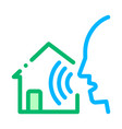 home voice control icon vector image vector image