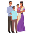 indian family man and woman with children vector image