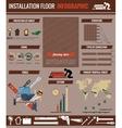Installation floor infographic vector image