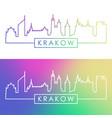 krakow skyline colorful linear style editable vector image vector image