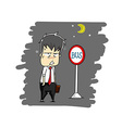 man after work vector image vector image