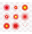 medical icon set radial pain circles target logo vector image vector image