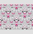 mexican folk art seamless pattern - skull vector image
