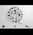 Modern business bubble speech vector image