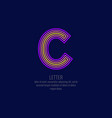 Modern linear logo and sign the letter c