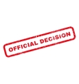 Official Decision Rubber Stamp vector image vector image