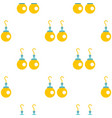 pair of earrings with pearls pattern seamless vector image vector image