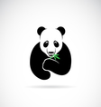 Panda design on a white background vector image vector image