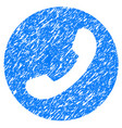 phone number grunge icon vector image vector image