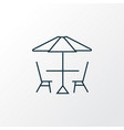 picnic table icon line symbol premium quality vector image