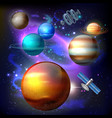 planet galaxy realistic composition vector image vector image