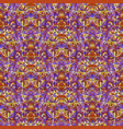 polygonal abstract seamless floral mosaic pattern vector image vector image