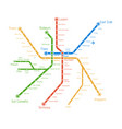 realistic city metro map backgrou vector image