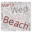 Reasons Why You Should Get Married At Lanikai vector image vector image