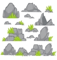 Rock stone cartoon flat style vector image