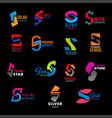 s letter icons corporate identity creative signs vector image