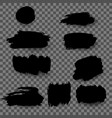 set black grunge stains as banner design vector image