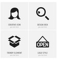 set of 4 editable trade icons includes symbols vector image vector image