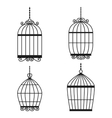 Silhouette birdcages collection set