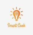 smart cook logo vector image vector image