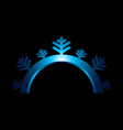 snowflake sign blue icon isolated vector image