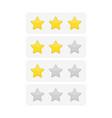 stars feedback bar vector image vector image