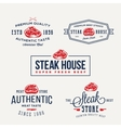 steak house or meat store vintage typography vector image vector image