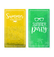 summer vacation banner template set party vector image