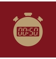 The 50 seconds minutes stopwatch icon Clock and vector image