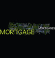 the best mortgage deal ever text background word vector image vector image