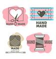 vintage hipster handmade handiwork badges labels vector image vector image