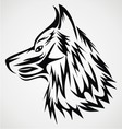 Wolf Head Tattoo Design vector image