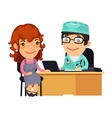 Woman Having Medical Consultation in Doctors vector image vector image