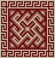 classic Greek meander ornament vector image