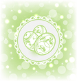 Easter card with ornate eggs vector image