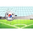 A soccer ball with south korean flag