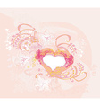 abstract romantic background with heart vector image vector image