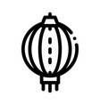 asian lantern icon outline vector image vector image