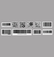barcode and qr code product price sticker with vector image