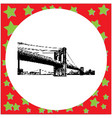 black 8-bit brooklyn bridge vector image