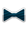 bowtie elegant isolated icon vector image vector image