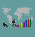 businessmen are jumping on the graph of success vector image