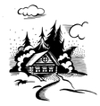 cabin in the woods vector image vector image