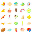 carefree icons set cartoon style vector image vector image