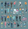 cartoon men and women characters vector image vector image
