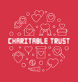 charitable trust round outline vector image vector image