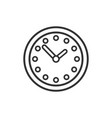 clock time icon silhouette isolated on white vector image vector image