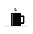 coffee cup hot black vector image