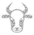 cow head icon composition vector image vector image